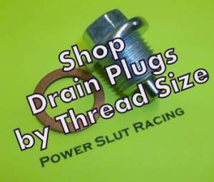 Magnetic Drain Plugs - By Thread Size
